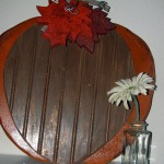 beadboard pumpkin_with flower