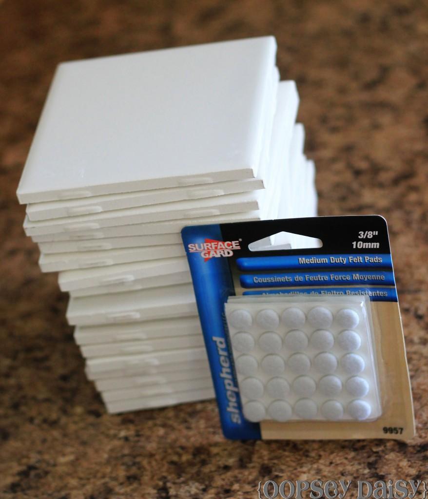 Photo Tile Coasters Using Resin