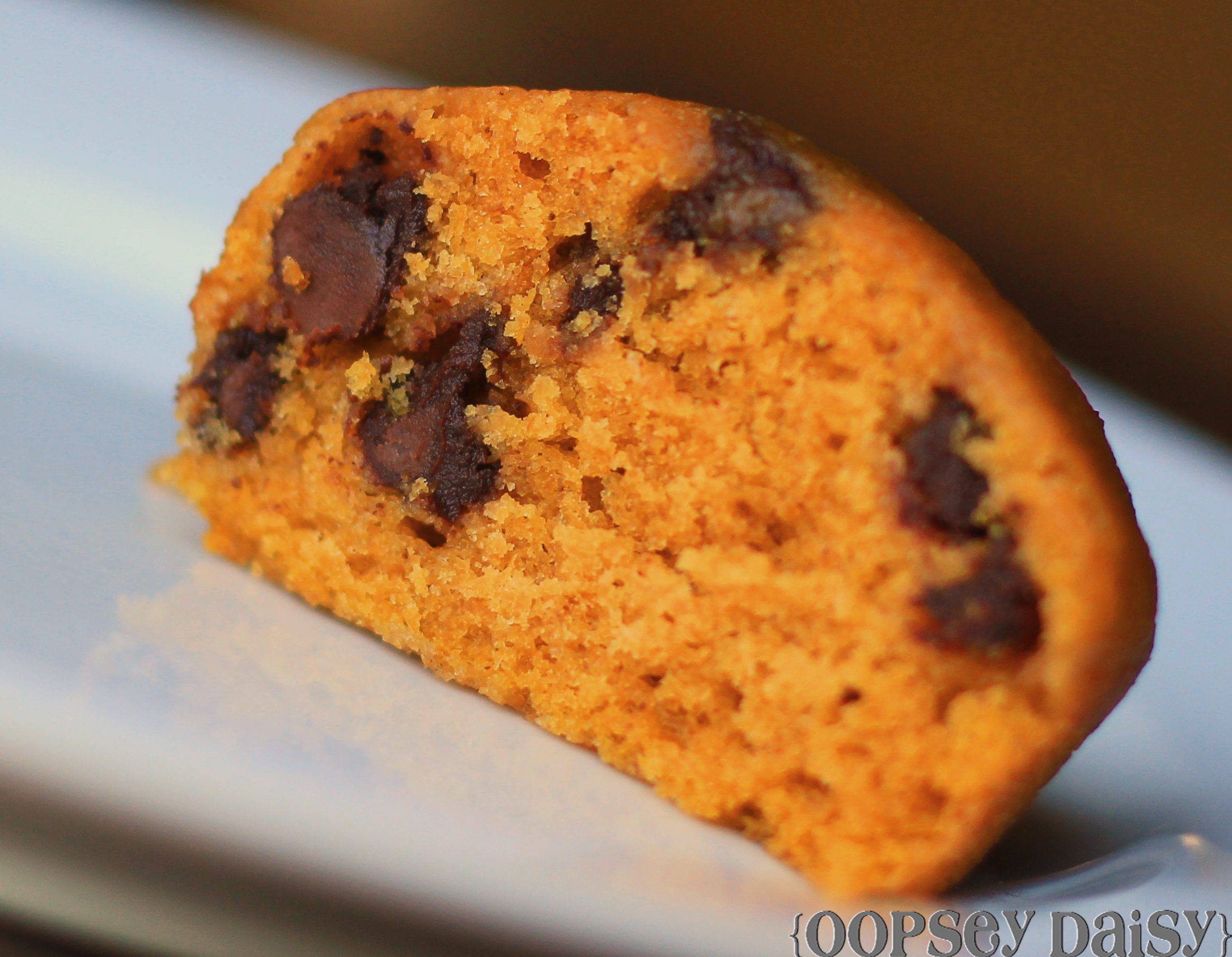 Delicious Pumpkin Chocolate Chip Muffins | Oopsey Daisy