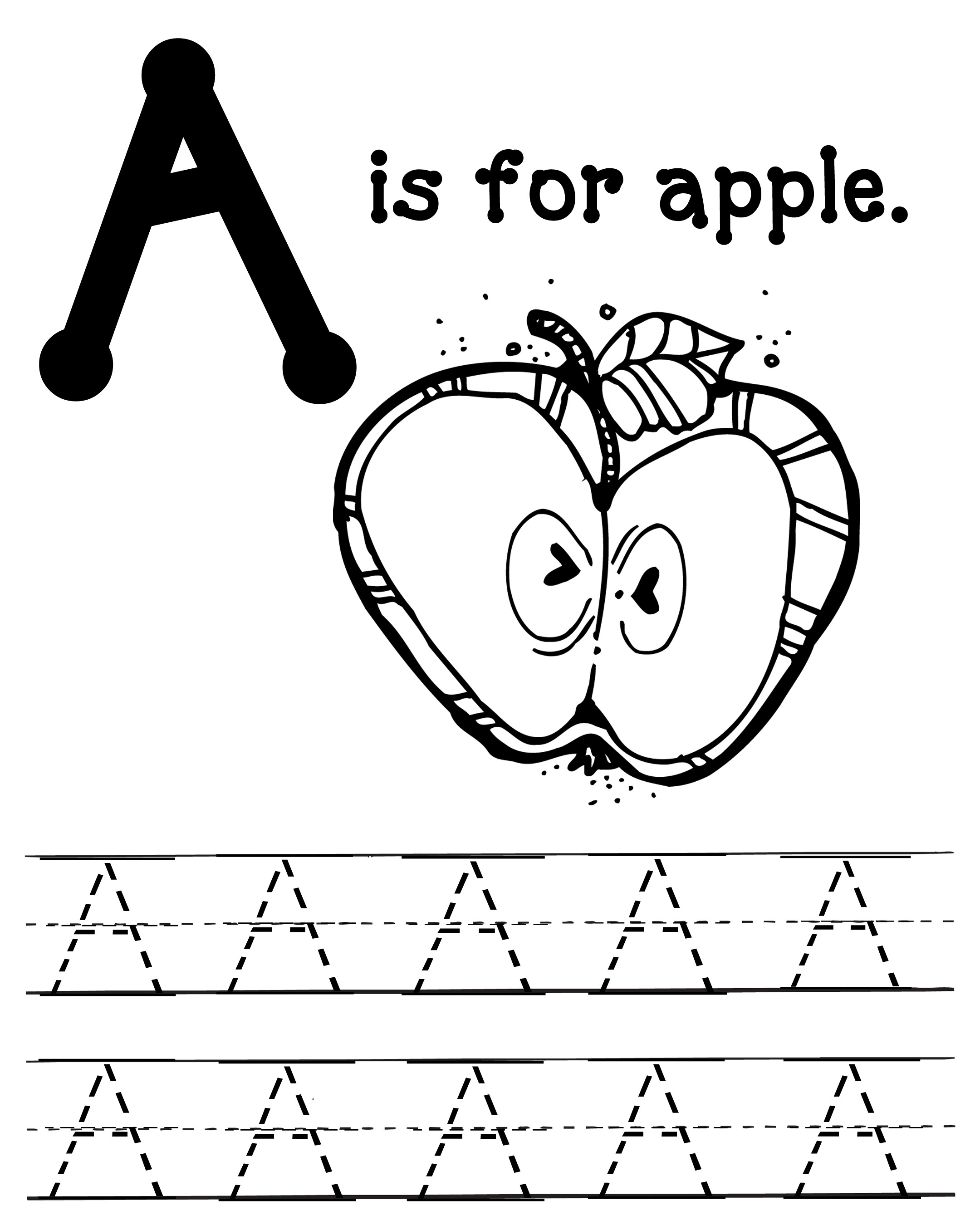 free a is for apples massive packet oopsey daisy with writing coloring pages