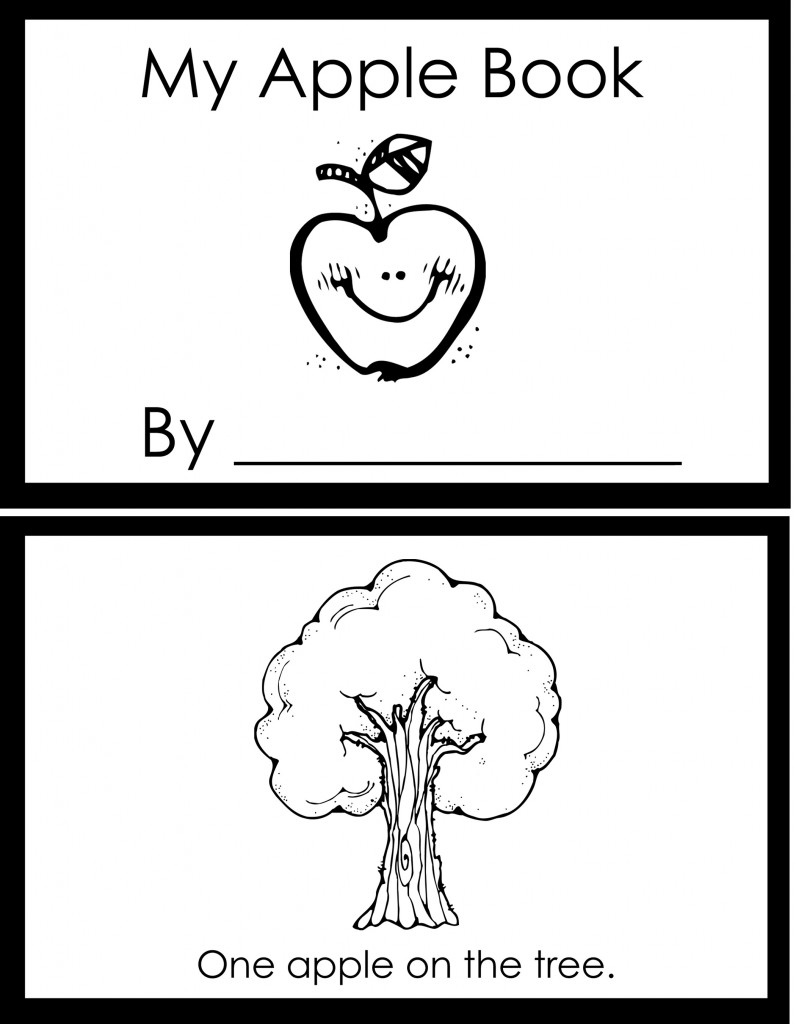 my apple book coloring pages - photo#1