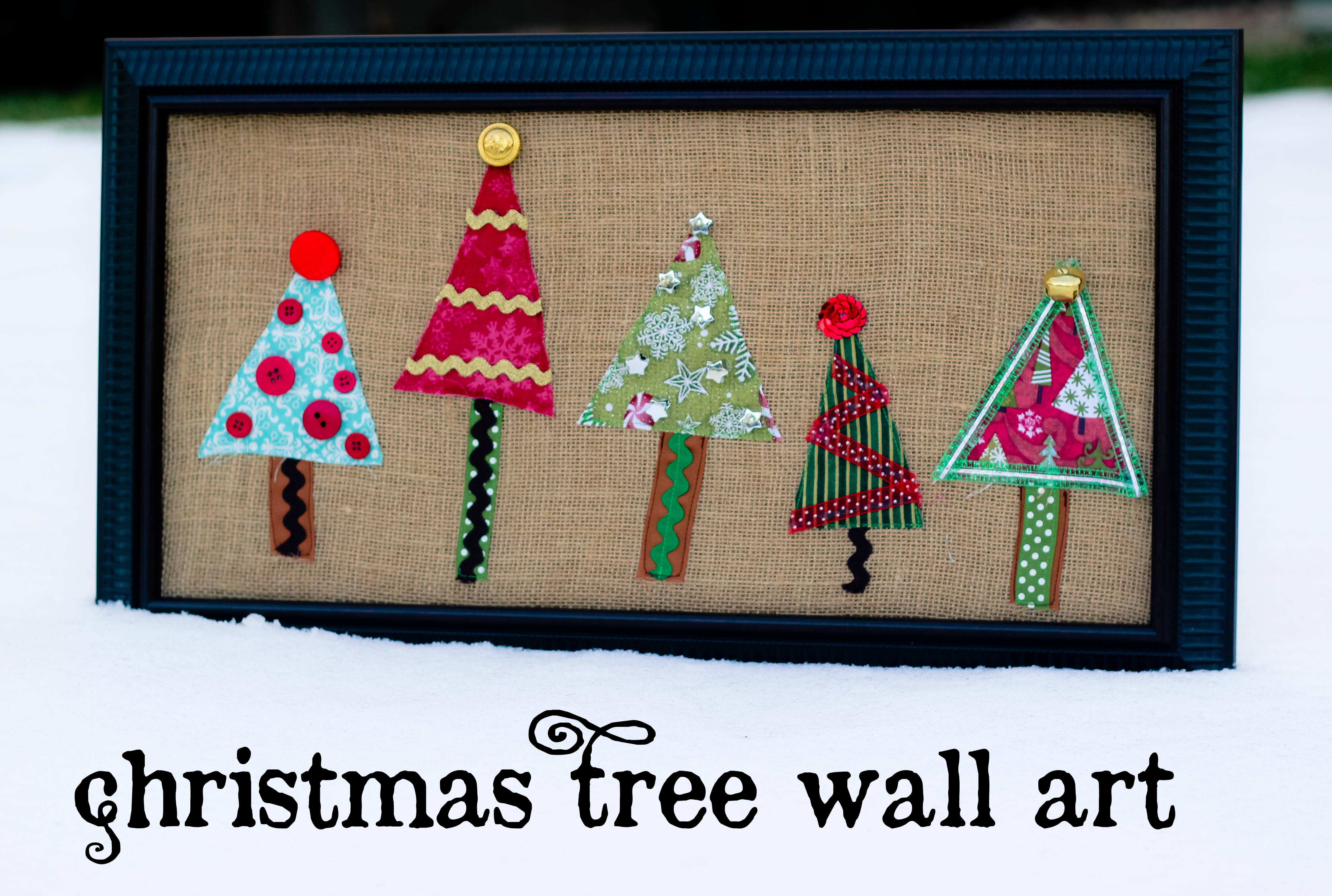 christmas tree wall art oopsey daisy. Black Bedroom Furniture Sets. Home Design Ideas