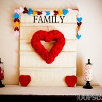 Felt heart garland_display