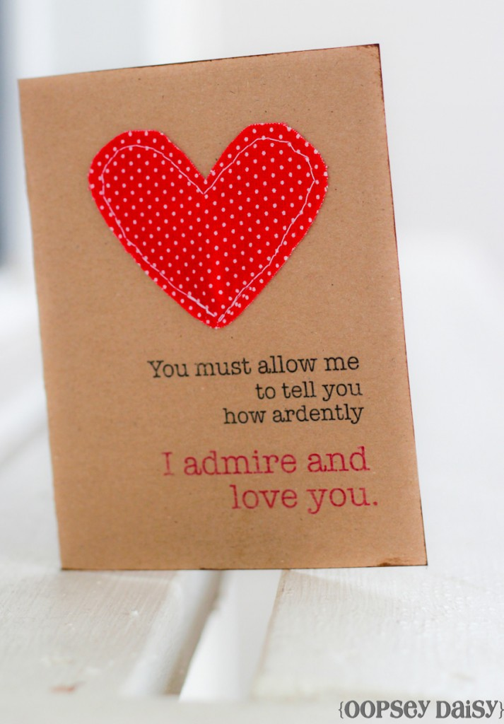 Valentine Cards with sewn Cards