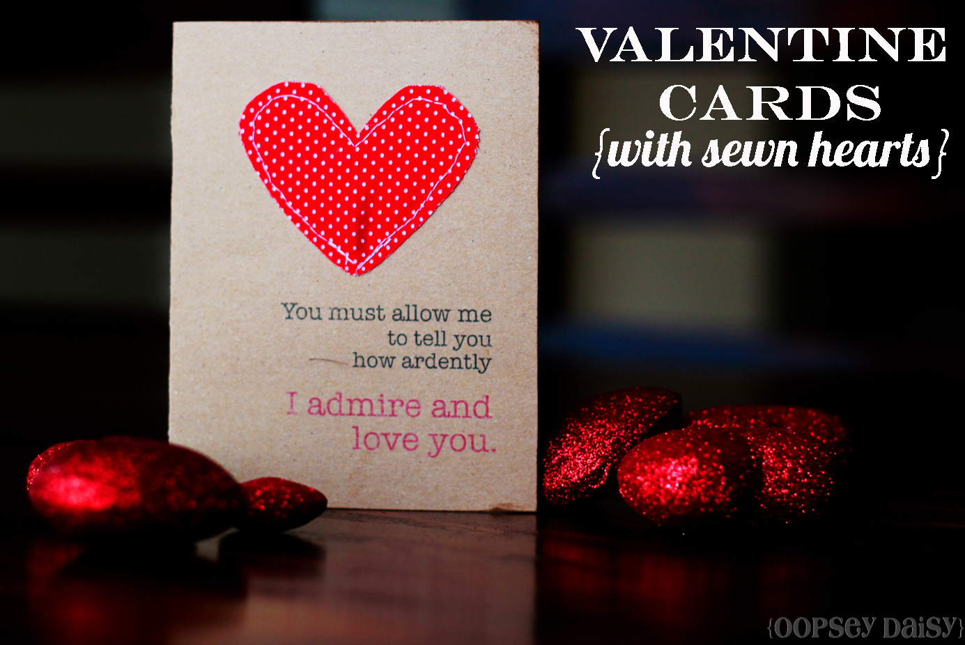 Valentine Cards With Sewn Hearts Easy Peasy Valentines – Special Valentine Cards
