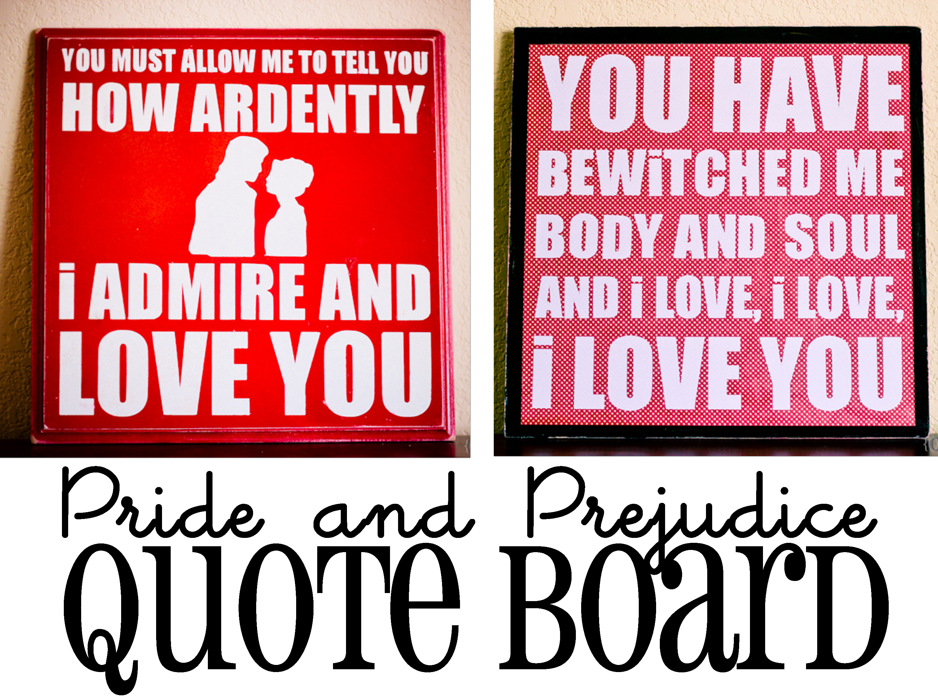 pride and prejudice quote board oopsey daisy