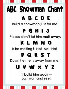Snowman Poem Preschool Images & Pictures - Becuo