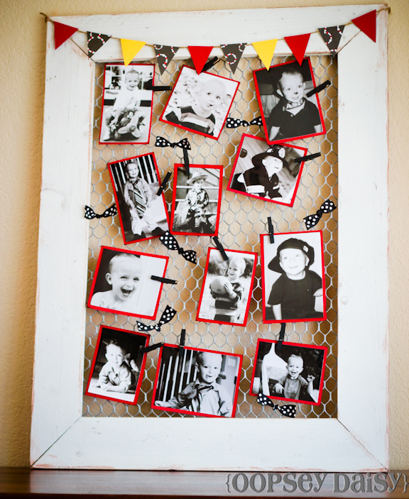DIY Chicken Wire Frame {Birthday Style}