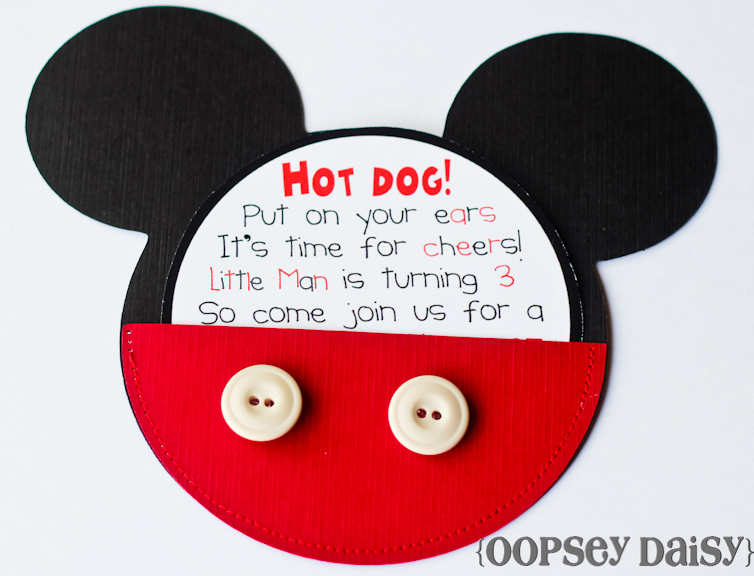mickey mouse birthday invitations | oopsey daisy, Birthday invitations