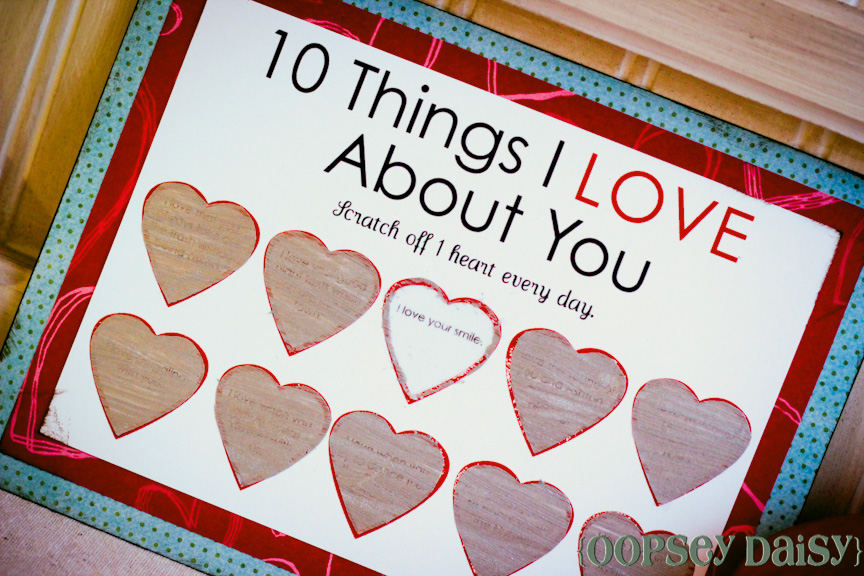 Scratchoff Card Easy Peasy Valentine – Picture of a Valentine Card