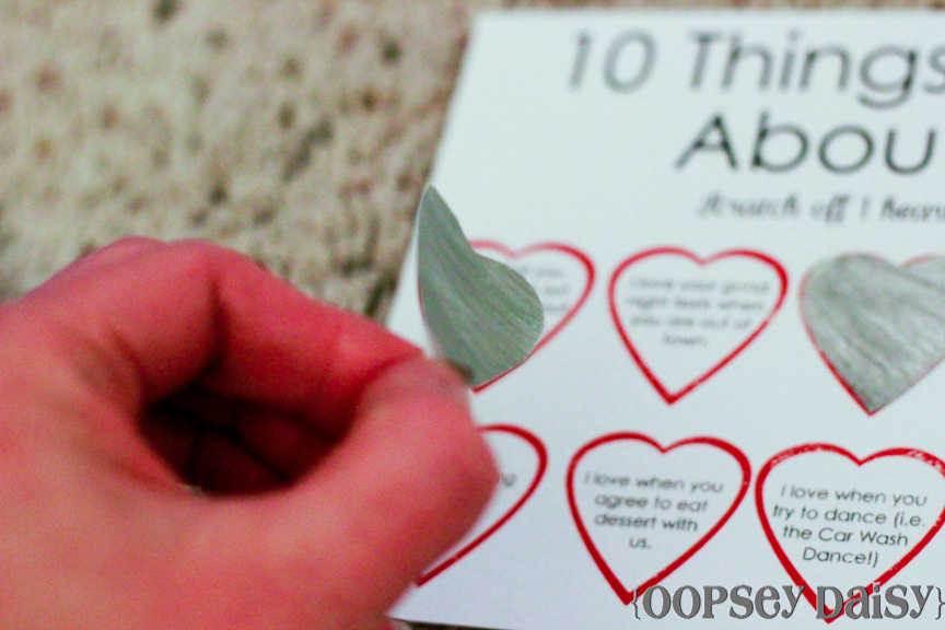 Scratchoff Card Easy Peasy Valentine – Homemade Valentine Card