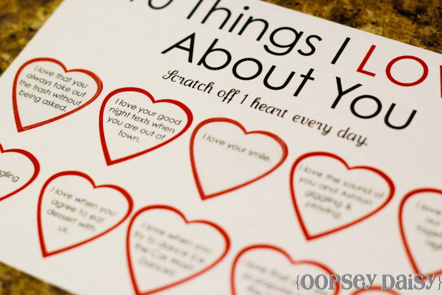Scratchoff Card Easy Peasy Valentine – What to Write on Your Boyfriends Valentines Card