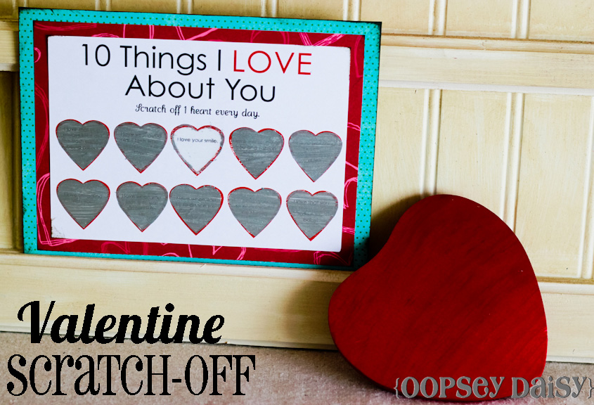 photo regarding Printable Valentine Cards for Husband referred to as Printable Scratch-off Card Straightforward Peasy Valentine