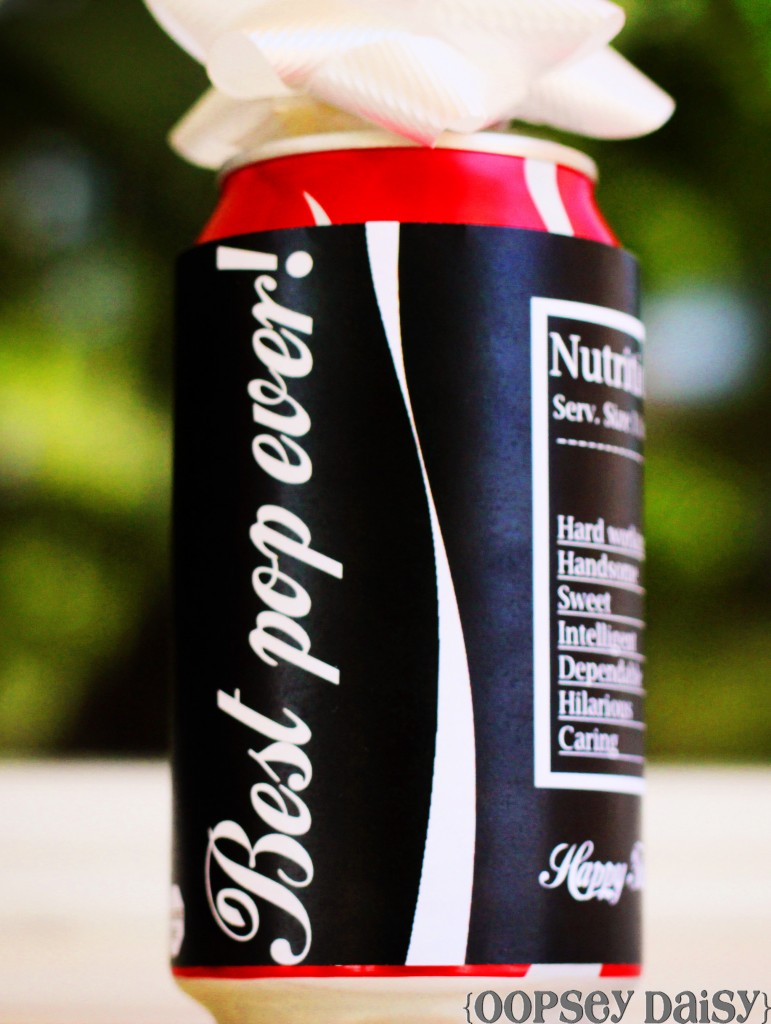 Father's Day Soda can sleeve printable